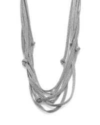 Eileen Fisher - Metallic Multistrand Knotted Necklace - Lyst