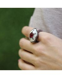 Arunashi | Red Ruby And Corian Ring | Lyst