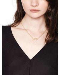 Kate Spade | Metallic Dainty Sparklers Bow Pendant | Lyst