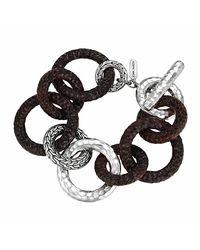John Hardy | Metallic Palu Silver Rosewood Link Bracelet for Men | Lyst