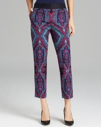 Adrianna Papell | Multicolor Printed Slant Pocket Pants | Lyst