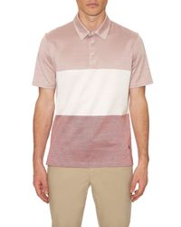 Dunhill   Pink Contrast Stripes Polo Shirt for Men   Lyst