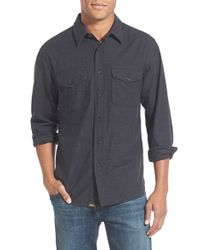 Billy Reid - Black 'graham' Standard Fit Print Sport Shirt for Men - Lyst