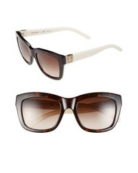 Tory Burch | White 52mm Square Sunglasses | Lyst