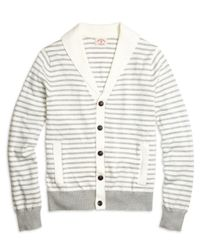 Brooks Brothers | Gray Supima® Cotton Stripe Cardigan for Men | Lyst