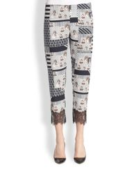 Clover Canyon - Multicolor Family Mcmurrough Lace-Trim Pants - Lyst