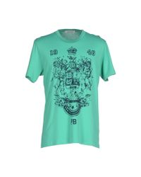 Balmain - Green T-shirt for Men - Lyst