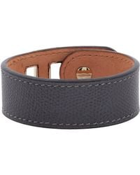 Valextra | Gray Grained Leather Bracelet | Lyst