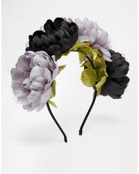 ASOS - Multicolor Oversized Darkness Flower Hair Garland - Lyst