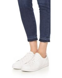 DKNY - White Clay Tennis Sneakers - Lyst