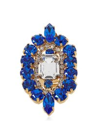 Halaby - Blue Flamingo Ring - Lyst