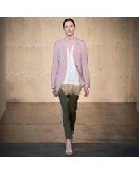 Paul Smith - Women'S Dusty Pink Two-Button Wool Blazer - Lyst