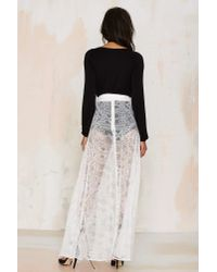 Nasty Gal | Just In Lace Maxi Skirt - White | Lyst