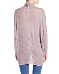 Free People | Pink Knit Surplice Sweater | Lyst
