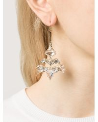 Alexis Bittar | White Chandelier Wire Cluster Earrings | Lyst