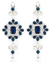 DSquared² - Blue Embellished Earrings - Lyst