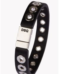 DSquared² | Black Nickel Hole Armlet for Men | Lyst