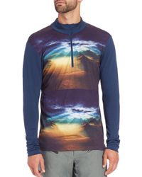 Helly Hansen | Blue Wool Graphic Half Zip for Men | Lyst
