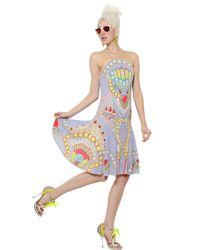 Manish Arora - Multicolor Sequined Chiffon Dress - Lyst