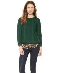 Chinti & Parker - Boxy Aran Sweater - Pine Green - Lyst