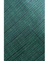 Emporio Armani   Green Striped Silk Tie for Men   Lyst