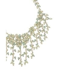BCBGMAXAZRIA - Green Drape Leaf-stone Necklace - Lyst