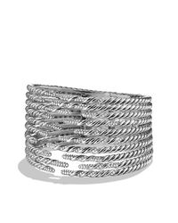 David Yurman | Metallic Willow Open Ten-row Bracelet With Diamonds | Lyst