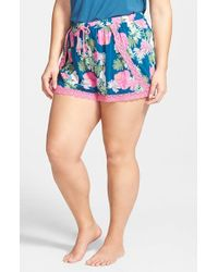 Pj Salvage | Blue 'challe' Print Shorts | Lyst