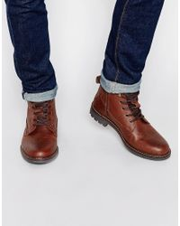 Firetrap - Brown Lace Up Military Boots for Men - Lyst
