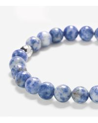 Cole Haan - Blue 8mm Bead Bracelet With Bead Closure - Lyst