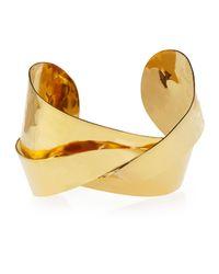 Devon Leigh | Metallic 18k Gold-plated Twist Cuff | Lyst