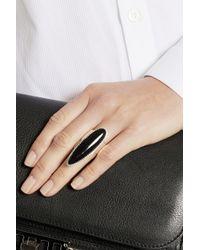 Iam By Ileana Makri - Black Silver Enamel Ring - Lyst