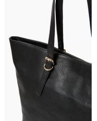 Violeta by Mango - Black Pebbled Shopper Bag - Lyst