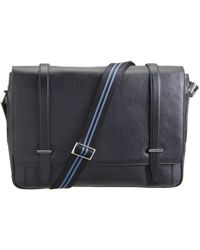 Smythson - Black Large Gresham Messenger Bag for Men - Lyst