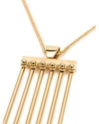 Chloé - Metallic Rigid Pendant Necklace - Lyst