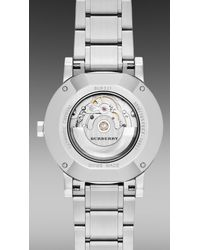 Burberry - Metallic The City Bu9321 38Mm Automatic for Men - Lyst