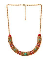 Forever 21 - Metallic Venetian Chain Fringe Necklace - Lyst