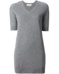 Vanessa Bruno Athé | Gray V-Neck Sweater Dress | Lyst