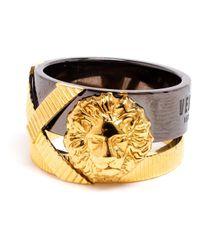 Versus - Metallic Lion Ring - Lyst