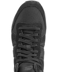 Nike - Internationalist Mid Sneakers With Leather - Black - Lyst