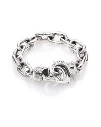 King Baby Studio | Metallic Handcuff Clasp Bracelet for Men | Lyst