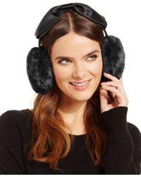 kate spade new york | Black Faux Fur Earmuffs | Lyst