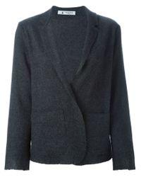 Barena - Gray Unfinished-Hem Wool-Blend Blazer - Lyst