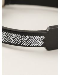 JvdF | Black Hand-painted Herringbone Bracelet for Men | Lyst