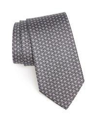 Ferragamo - Gray Equestrian Print Silk Tie for Men - Lyst