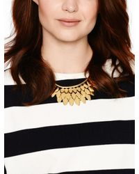 kate spade new york | Metallic Fancy Flock Collar Necklace | Lyst