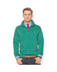 Ralph Lauren - Green Frenchrib Mockneck Pullover for Men - Lyst