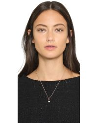 Katie Rowland | White Irina Mini Pendant Necklace - Pearl/rose Gold | Lyst