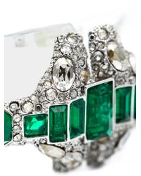 Alexis Bittar | Green Crystal Deco Emerald Stacked Bracelet | Lyst