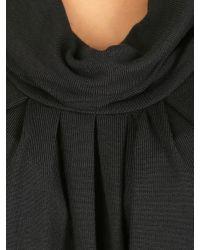 Izabel London Black Knit Tunic Top With Cowl Neckline